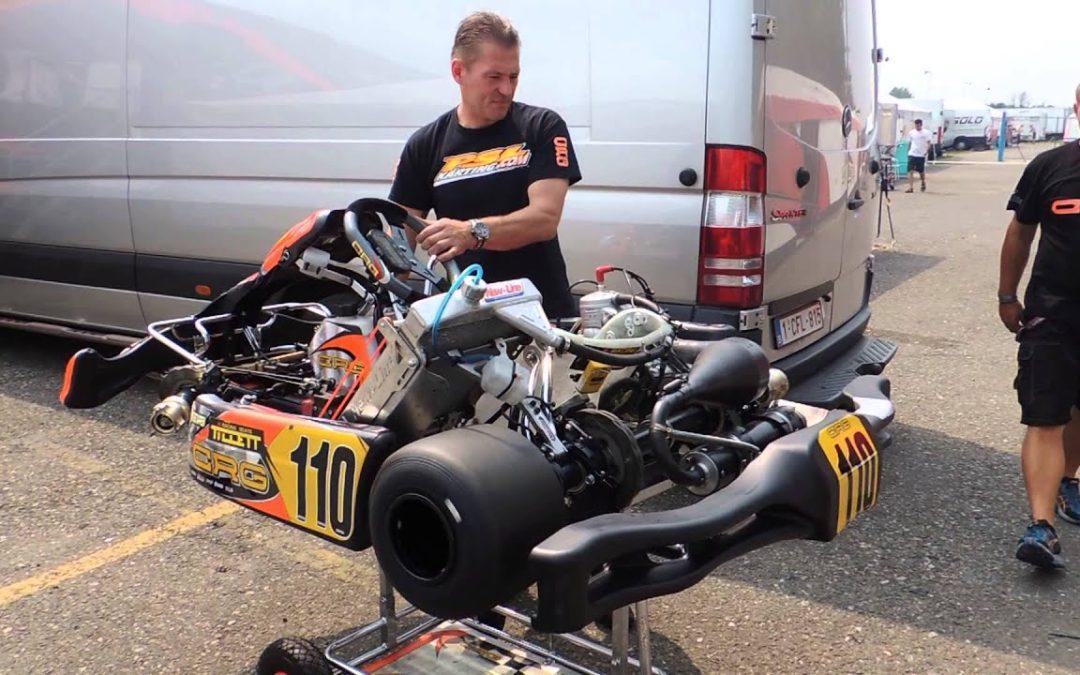 Jos Verstappen test Max's kart — WSK 7 Laghi 13-07-13