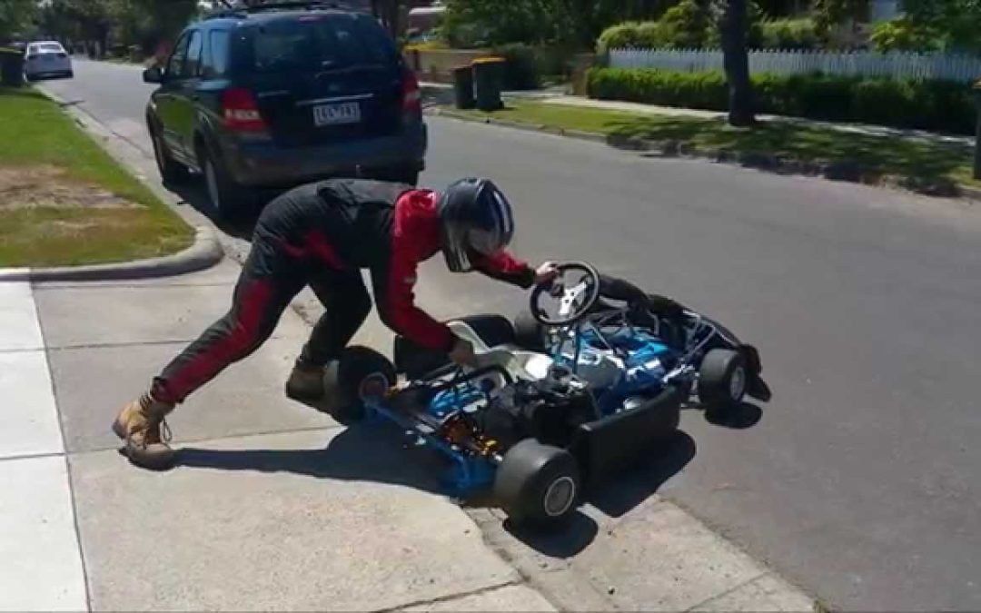 4 stroke honda clone go kart with a torque converter — Check out 'DAD AND DUDES' for more!