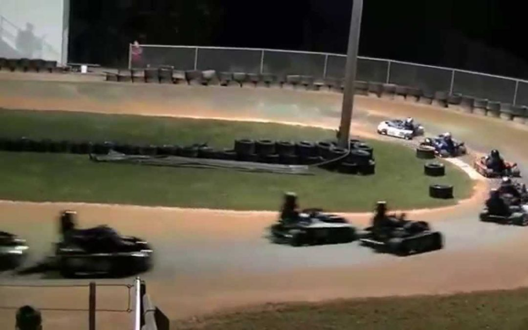 Dirt Track Go Kart racing Adult feature race 3-15