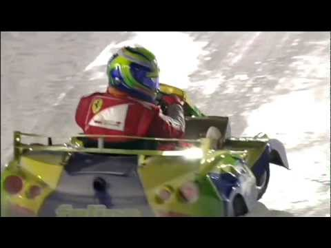 Alonso wins ice kart race after Massa tips him into a spin